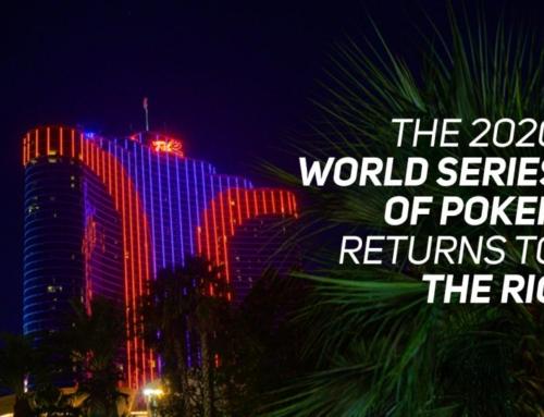 2020 WSOP RETURNS TO THE RIO